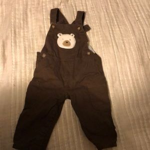 Brown Carter's insulated overalls